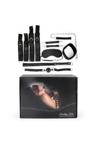 НАБОР (наручники, оковы, ошейник с поводком, кляп, маска, плеть) арт. NTB-80472