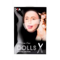 Кукла надувная с реалистичной головой. Брюнетка.  Кибер вставка вагина – анус. 3 отверстия.