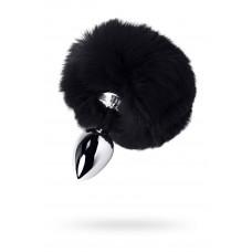 Анальная втулка с черным хвостиком