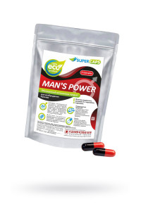 Капсулы MAN''S POWER+LCAMITIN возбуждающее средство, 2 штуки