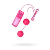Вагинальные шарики Dream Toys с вибрацией, розовые, ?3,5 см