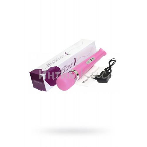 Массажер Magic Wand 10 режимов, беспроводной,розовый