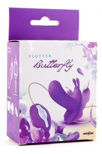 Вибробабочка поясная Butterfly, 7 режимов вибрации, фиолетовая