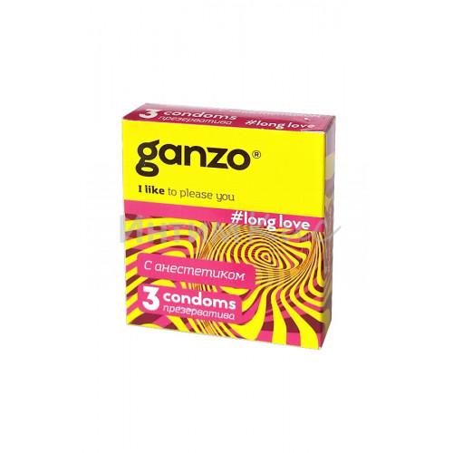 Презервативы Ganzo Long Love, для продления полового акта, 3шт