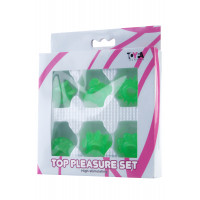 Набор колец на пенис TOYFA, ПВХ, зеленый, 6 шт, ?2 см