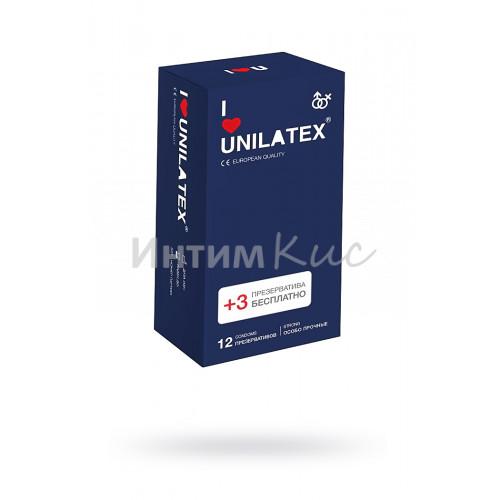 Презервативы Unilatex Extra Strong, гладкие, 12шт