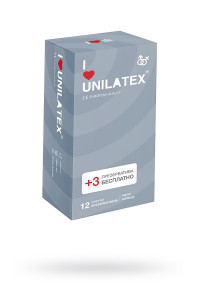 Презервативы Unilatex Ribbed ребристые №12