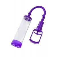 Помпа для пениса Sexus Men Erection, вакуумная, механическая, ABS пластик, фиолетовая, ?6 см