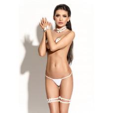 Чокер Me Seduce Queen of hearts Bonita белый-OS
