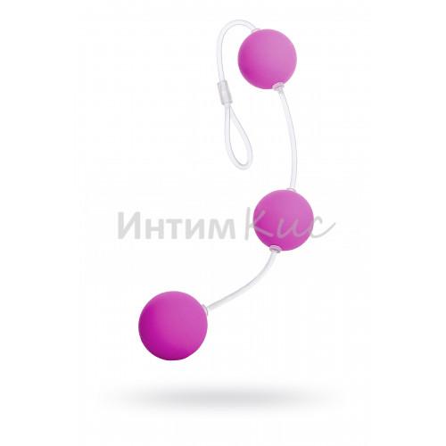 Анальные шарики Sexus Funny Five, ABS пластик, фиолетовые, 19,5 см