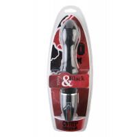 Вибратор TOYFA Black&Red, 10 режимов вибрации, силиконовый, черный, 28 см, ?4,5 см