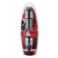 Вибратор TOYFA Black&Red, 10 режимов вибрации, чёрный, 28 см, ?4,5 см