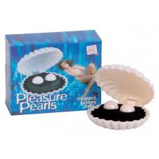 Вагинальные шарики Dream Toys в ракушке, белые, ?3,5 см
