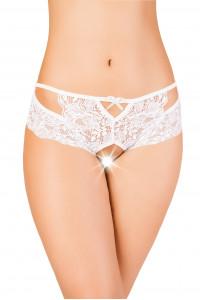 Эротические трусики Erolanta Lingerie Collection кружевные белые (50-52)