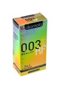 Презервативы Окамото 003 Real Fit №10  Супер тонкие особой облегающей формы -ШТ