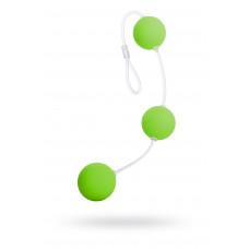 Анальные шарики Sexus Funny Five, ABS пластик, зеленые
