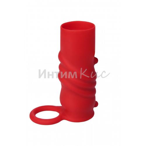 Насадка силиконовая, красная