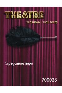 Перо страусиное черное