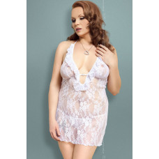 Carmen - Ночная сорочка и стринги белые-XL