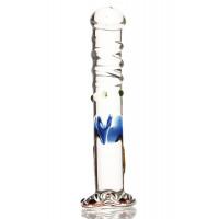 Фаллоимитатор Sexus Glass, стеклянный, 17 см