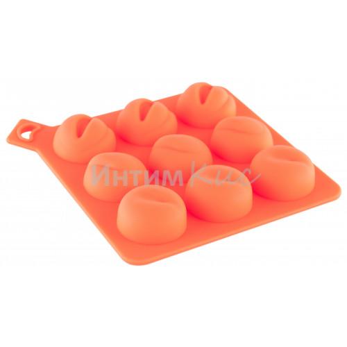 Формочка для льда, оранжевая