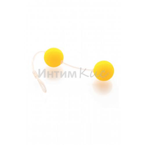 Вагинальные шарики Sexus Funny Five, ABS пластик, жёлтые, ?3 см