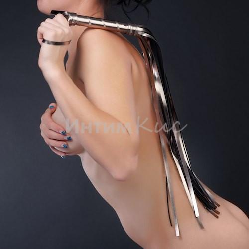 Плеть Sitabella серебро с чёрным