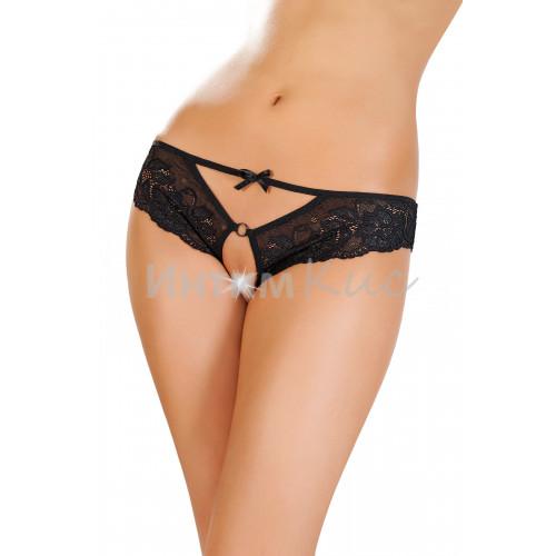 Эротические трусики Erolanta Lingerie Collection, кружевные черные (46-48)