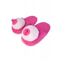 Сувенир Тапки розовые ''Грудь''