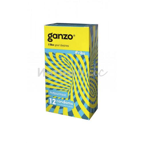 Презервативы Ganzo Ribs № 12Ребристые,ШТ