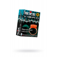 Виброкольцо LUXE VIBRO Бархатный молот + презерватив, 1 шт