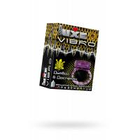 Виброкольцо LUXE VIBRO Дьявол в доспехах + презерватив, 1 шт