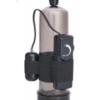 Помпа для пениса Sexus Men Training, вакуумная, механическая, с вибрацией, ABS пластик, чёрная, ?6 с