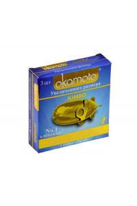Презервативы Окамото Jumbo №3  Увеличенного размера - ШТ