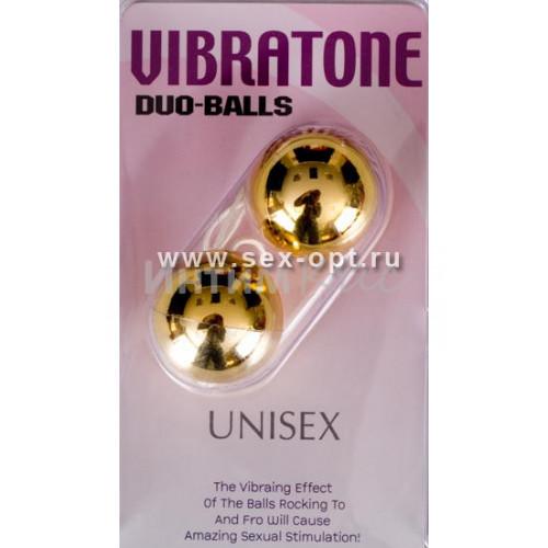 Вагинальные шарики Dream Toys, золотистые, ?3,5 см