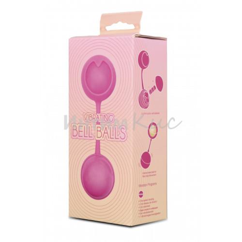 Вагинальные шарики Seven Creations с вибрацией, Силикон + ABS пластик, розовые