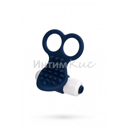 Вибронасадка NMC The Finger на пальцы с рельефной поверхностью, 10 режимов вибрации, синяя