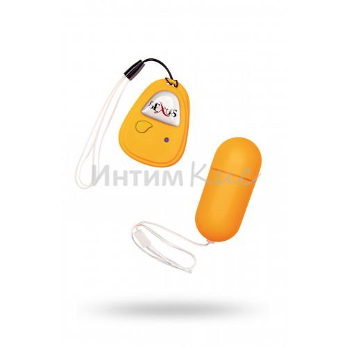 Виброяйцо с ДУ 7см оранжевое