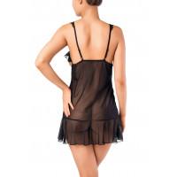 Комбинация Erolanta Lingerie Collection с открытой грудью, черная (46-48)