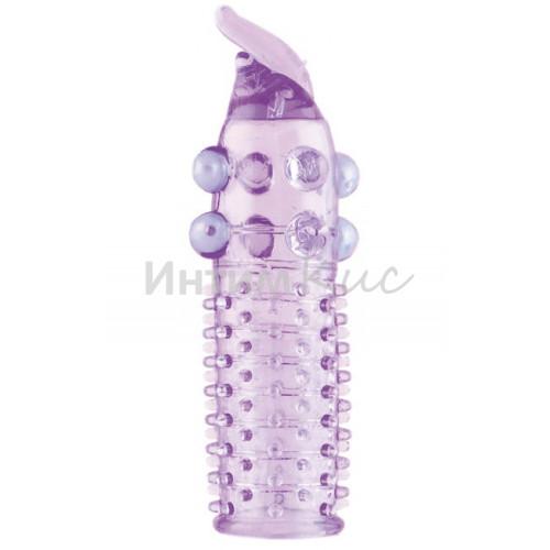 Насадка гелевая с шариками фиолетовая
