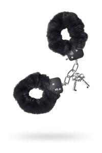 Наручники меховые черные