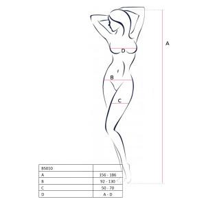 Костюм-сетка Passion Erotic line, черный, OS