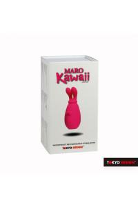 Вибратор с движущимися ушками MARO KAWAII 2 силиконовый, 10 см