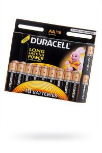 Пальчиковые батарейки типа АА Duracell LR6 BL 18 шт