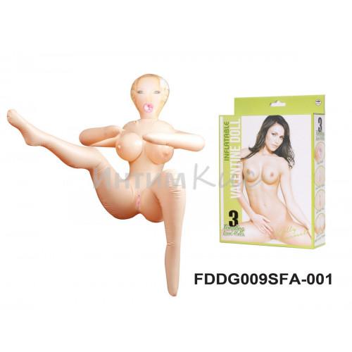Кукла надувная Келли Кармелл (в сидячей позиции высота 85 см.)