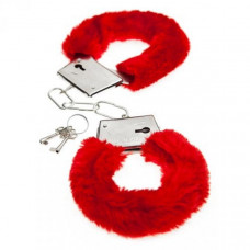 Меховые наручники Love красные BI-026024RED