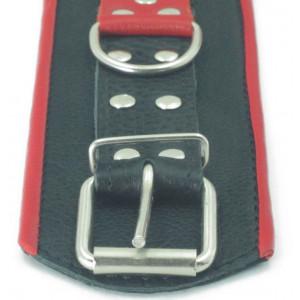 Наручники широкие черные c красным 51018ars