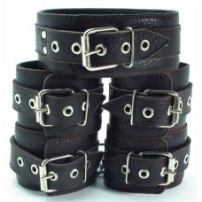 Коричневые наручники с мехом 53014ars