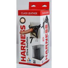 "Кожаные трусики Harness Ultra Realistic 7"" 630603ru"