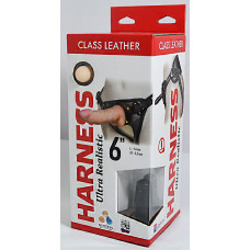 "Кожаные трусики Harness Ultra Realistic 6"" 632003ru"